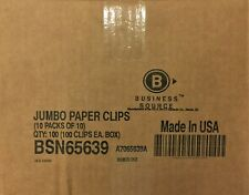 100 Boxes Business Source Paper Clips Jumbo 100box Bsn65639