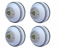 """4X CW INCREDIBLE /PVC /POLYSOFT /SPIN /PRACTICE CRICKET BALL """"ALL WHITE"""""""