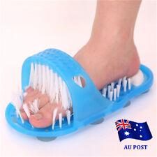 New Foot Gift Shower Feet Cleaner Scrubber Bath Brush Bristle Massager AU