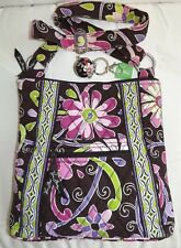 VERA BRADLEY Hipster Crossbody Purse - PURPLE PUNCH - & Free Matching Keychain