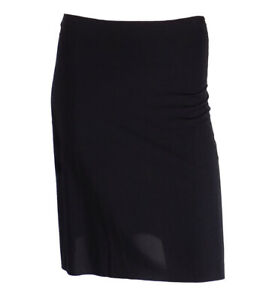 LADIES BLACK HALF MIRACLE SLIP CLING RESISTANT & SOFT FABRIC SIZES 8-18