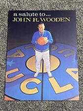 Vintage Lew Alcindor 1st Game Frosh BASKETBALL PROGRAM  Salute JOHN WOODEN UCLA
