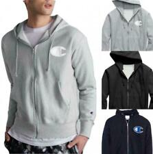 Champion Life Men's Reverse Weave Full-Zip Hoodie, Mesh & Leather C Logo