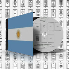 ARGENTINA STAMP ALBUM PAGES 1858-2011 (506 pages)