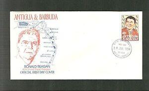 ANTIGUA & BARBUDA SC. 763 FIRST DAY COVER - RONALD REAGAN UNADDRESSED FDC