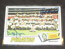 1977 PIRATES TEAM DUAL SIGNED AUTOGRAPHED TOPPS CARD DUFFY DYER & GEORGE MEDICH