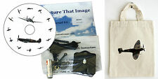 DIY CD Clock KIT. Spitfire, in small canvas gift bag with Spitfire Motif