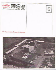 1990s Lion Brewery Wilkes Barre Pa Postcard Tavern Trove (Front & Back Shown)