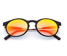 SARAGHINA GILDA IRON occhiali da sole rotondi nero lenti flash unisex sunglasses