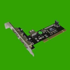 DELOCK 89028 5 Port (4x extern +1x intern ) USB 2.0 Karte PCI Steckplatz