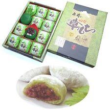 Yomogi Daifuku Red Bean paste Japanese Mugwort Kusa Mochi 12 pcs Sweets cake o92