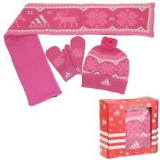ADIDAS K gift lot jeu de cadeau gants bonnet écharpe enfants filles rose
