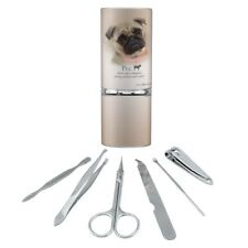 Pug Dog Breed Stainless Steel Manicure Pedicure Grooming Beauty Care Travel Kit