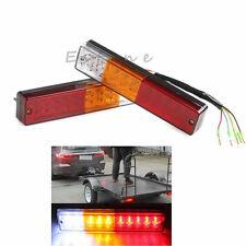 2X 12V ATV Truck 20 LED Trailer Rear Tail Brake Reverse Light Turn Signal Lamp