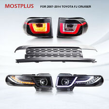 2017 LED Headlights and Tail Lights (W/ Grille) Fit Toyota FJ Cruiser 4.0 07-14