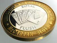 Ten Dollar Gaming Token McCarran Slots Las Vegas Nevada .999 Silver R614
