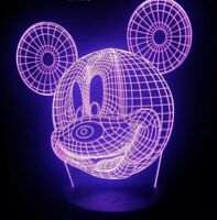 MICKEY MOUSE DISNEY 3D USB LED 7 Color Night Light Touch Table Lamp Gift