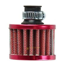 12mm Red Auto Car Motor Cold Air Intake Filter Turbo Vent Crankcase Breather