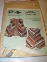 CHILDS STRIP QUILTED VEST PATCHWORK PLACE PATTERN SEWING SIZE 21-27 CHEST