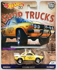 HOT WHEELS 2018 CAR CULTURE SHOP TRUCKS SUBARU BRAT YELLOW