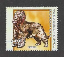 Dog Art Body Portrait Postage Stamp Briard Central Africa 2001 Mnh