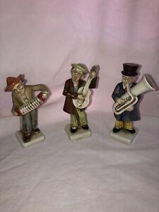 Vintage German Minstrels Playing Instruments Figurines