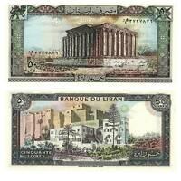 Pick 65d Libanon / Lebanon 50 Livres 1988  Unc. / 289541vvv