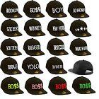 Mens casual hat baseball cap ball caps adjustable Snapback GEEK HIP HOP YOLO BOY