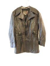Vintage Men's Martini Genuine Nappa Leather Bomber Belted jacket Coat Size 44