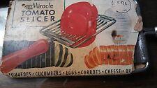 Vintage Tomato Slicer, Red Wood Handle, Ekco