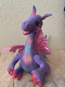 "Barbie 2002 12"" Plush Rapunzel PENELOPE Moves/Talking Purple DRAGON Mattel"