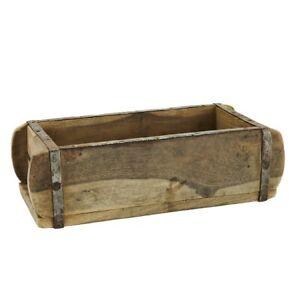 Natural Rustic Wood Single Brick Mould Storage Box by Madam Stoltz