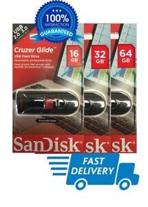SanDisk Cruzer Glide 16GB/32GB/64GB USB Flash Drive Memory stick-UK