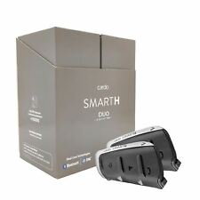New Cardo Smart H Bluetooth Motorcycle Comm system Duo Pack w/ NAT Voice