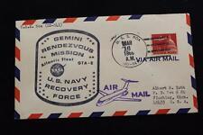 NAVAL SPACE COVER 1966 GEMINI GTA-8 RECOVERY SHIP USS NOA (DD-841) (263)