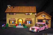 LIGHT MY BRICKS - LED Light kit for Lego Simpsons House set 71006 Lego LED Light