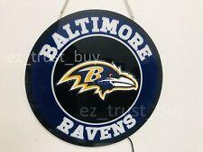 """New Baltimore Ravens Led 3D Neon Sign 17"""" Bar Lamp Decor Poster"""