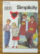 SIMPLICITY PATTERN - 9178 GIRL BOY TOP PANTS JUMPER PINAFORE JACKET 2 3 4 UNCUT