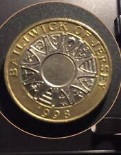 £2 Pound Coin 1998 Jersey Parishes Mint Error Writing Upside Down ///