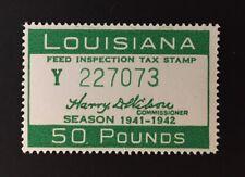 Louisiana State Revenue - 1941-1942 - 50 Lbs. Feed Inspection Tax #FE81 - LA