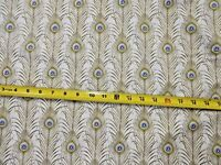 "Peacock Peacocks Feather PLUME CM6459 Timeless Cotton Fabric 44"" Bolt END"
