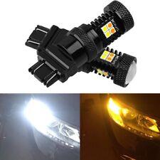 2PCS 3030 Switchback LED Bulb 3157 White Amber Dual Color Turn Signal Light Q3E6