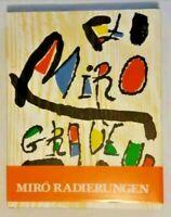 Joan Miro Radierungen I 1928-1960 by Jacques Dupin Weber Lelong 1984 1st Edition