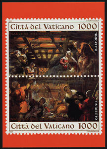 Vatican maxicard image of 970a unused - nativity & Adoration of the Shepherds