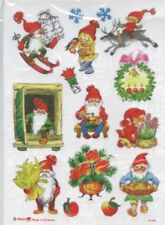 2 pkgs Scandinavian Nordic Swedish Danish Norwegian Christmas Stickers #5248