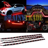 "4 PCS 12"" 1FT 15 Flexible LED Strip Light Waterproof For Car Truck Boat 12V"