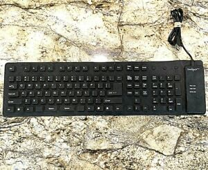 Omnitech Flexible Silicone Waterproof Keyboard Black USB