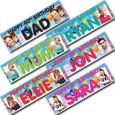 Giant Personalised Photo Name Birthday Party Banner 16th 18th 21st 30th 40th Up