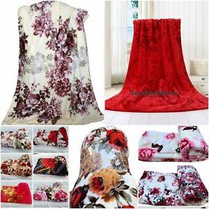 Fleece Blanket Large Sofa Throw Soft Warm Mink Bed Blanket Single Double King
