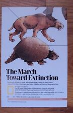 National Geographic June 1989 Map March Toward Extinction New View of Dinosaurs